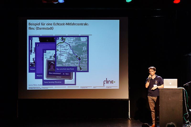 Nachhaltiger Mobil per Web: Mitfahrgelegenheiten, Car Sharing & Co. Vortrag von Moritz Gom auf dem Webmontag in Frankfurt am 9. Sept. 2013 (wmfra52)