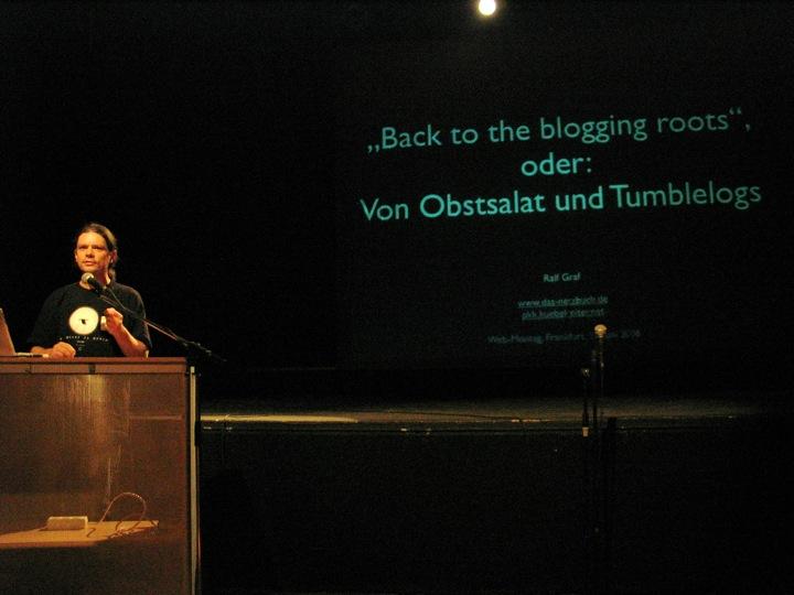 """""""Ralf Graf: Vortrag über Tumblelogs beim Webmontag"""""""